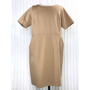 Lands' End Stretch Cap Sleeve Sheath Dress Sz 20W